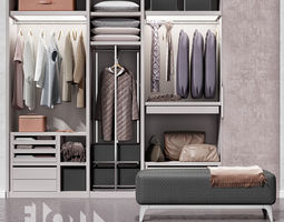 animated storage Wardrobe Poliform Ego 3D model