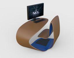 Compact desk 3D