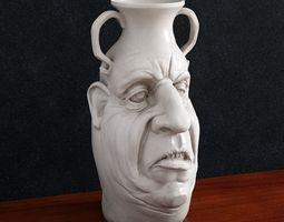 Vase Head 3d print flowerpot