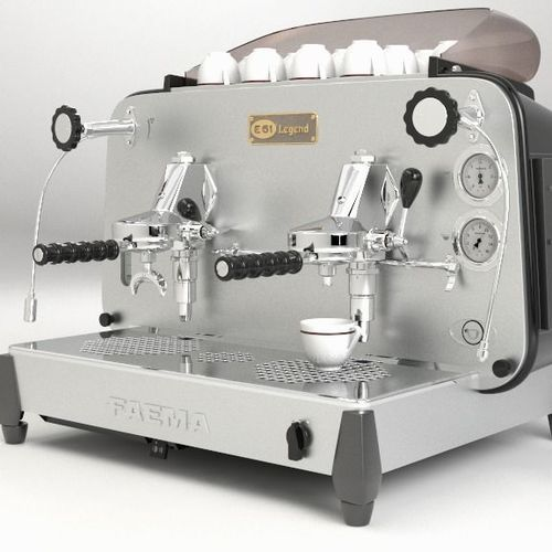 faema e61 legend coffee machine 3d model obj mtl 3dm 1