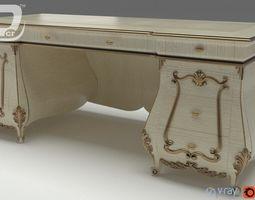 3d model alzena writing desk