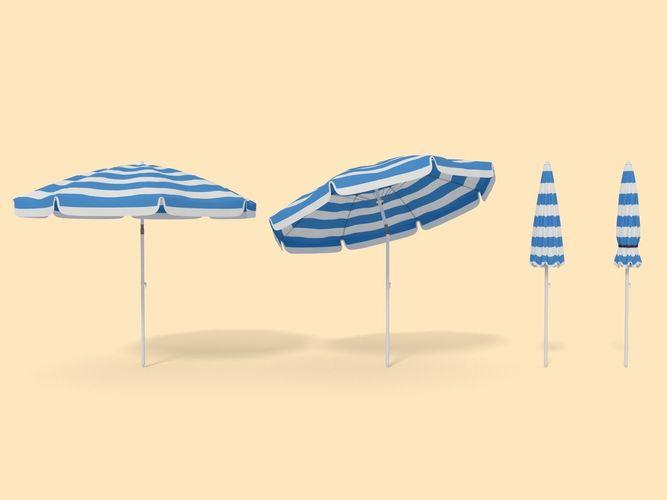 beach parasol  3d model obj mtl 3ds fbx blend dae 1