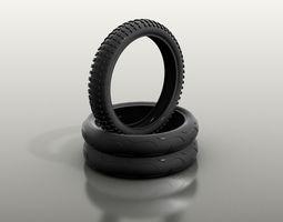 3D model vehicle Tires