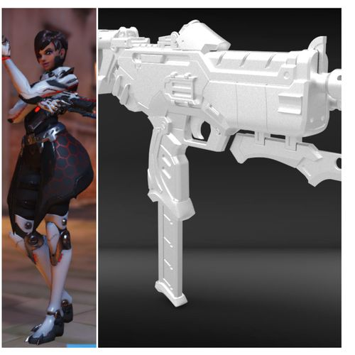 sombra talon skin gun 3d printing files 3d model stl 1