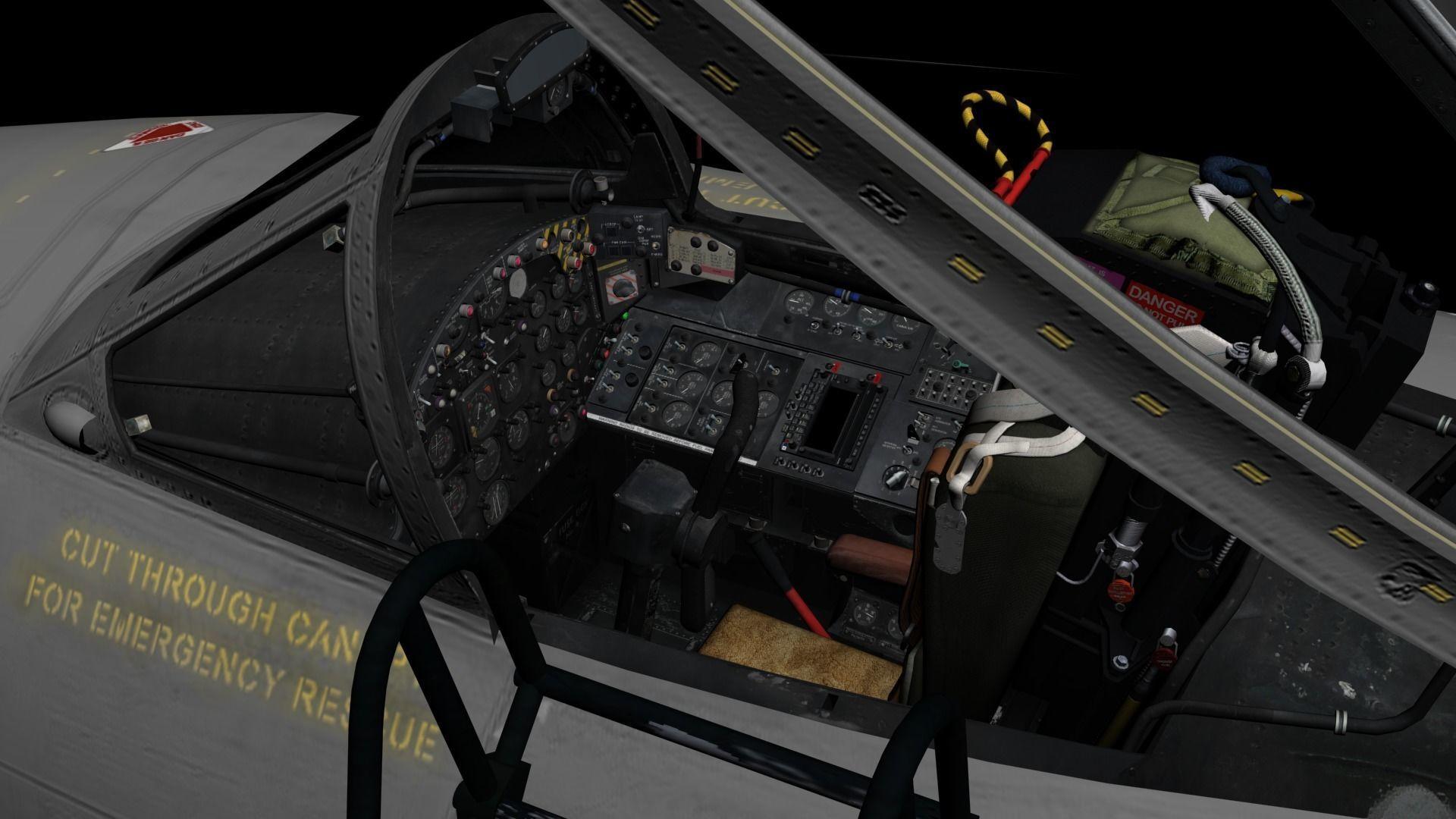 Canberra PR9 3D Cockpit | 3D model