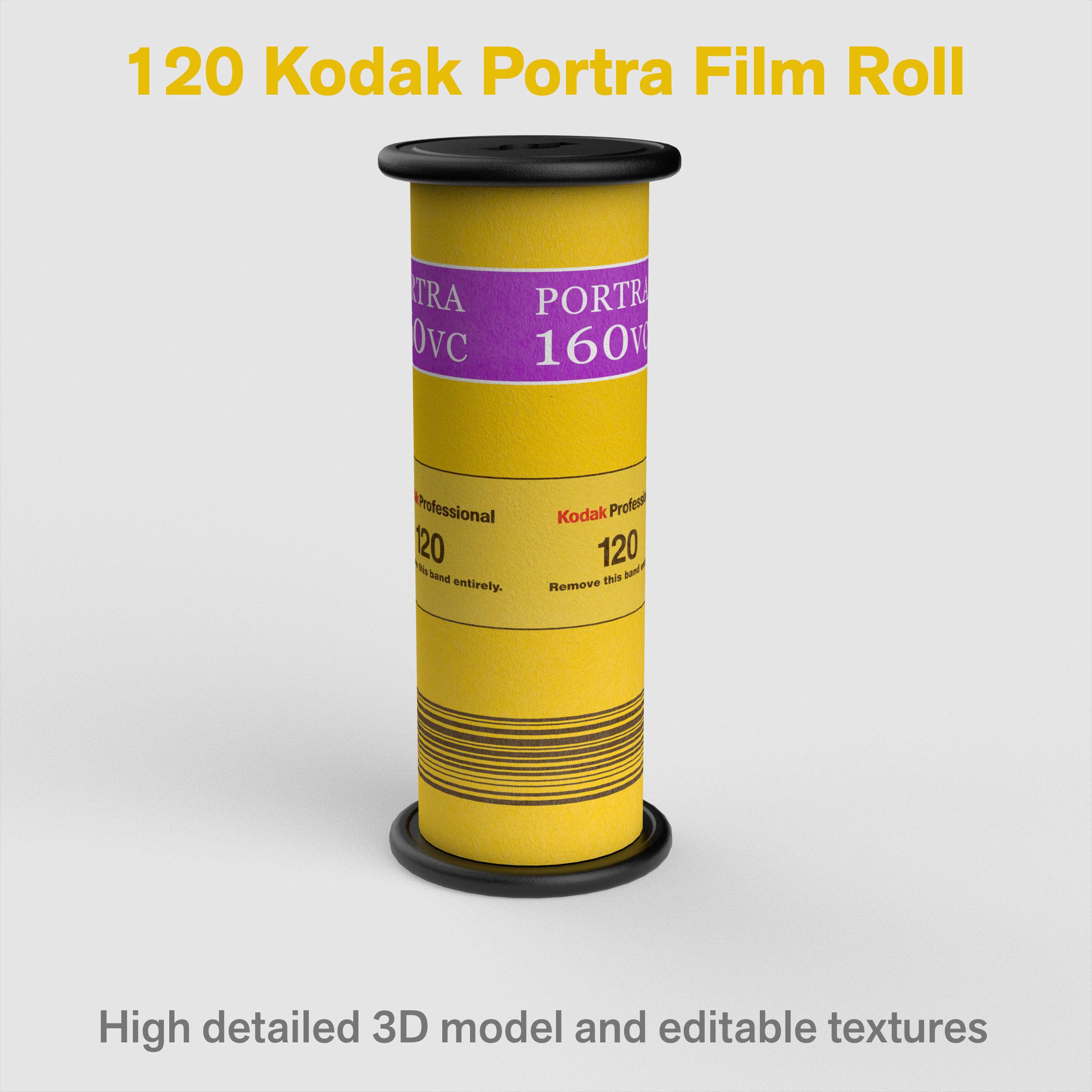 3D model 120 Kodak Portra Film Roll details   CGTrader