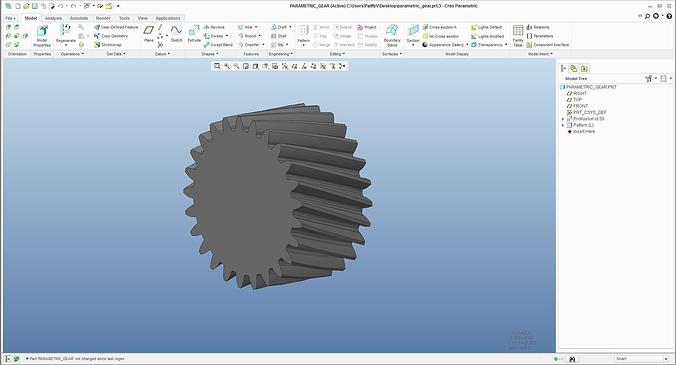 parametric gear 3d model  1