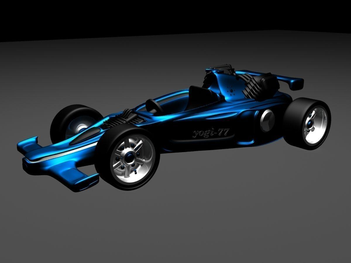 F1 Car 3D Model Game Ready .max