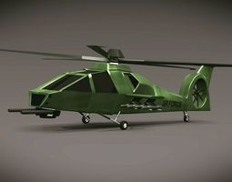 Army helicopter concept 3D Model