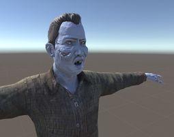 Zombie Male 3D asset