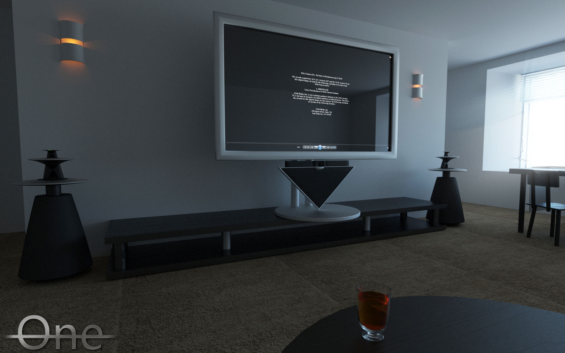 bang olufsen beolab 5 beovision 4 3d model animated max. Black Bedroom Furniture Sets. Home Design Ideas