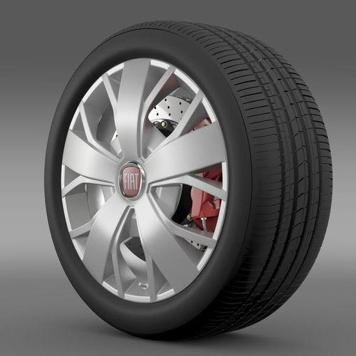 Fiat Ducato Van L2H2 wheel3D model