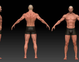 male body realtime 3d asset
