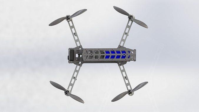 typezero diy quadcopter fpv frame 3d model dxf sldprt sldasm slddrw 3