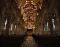 3D model Luxury Church Interior
