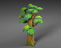 3D asset realtime game Cartoon Tree