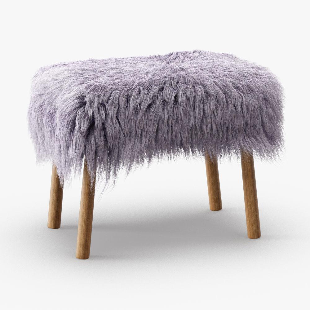 Icelandic sheepskin stool