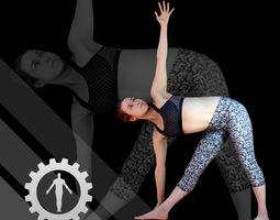 Female Scan - Allison Yoga 3D asset