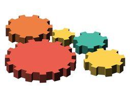 3D model Simple low-poly cogs