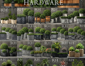 3D model Plants vol 1 restoration hardware planters