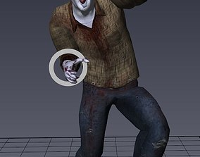 Zombie Male 1 -Rigged Version 3D asset