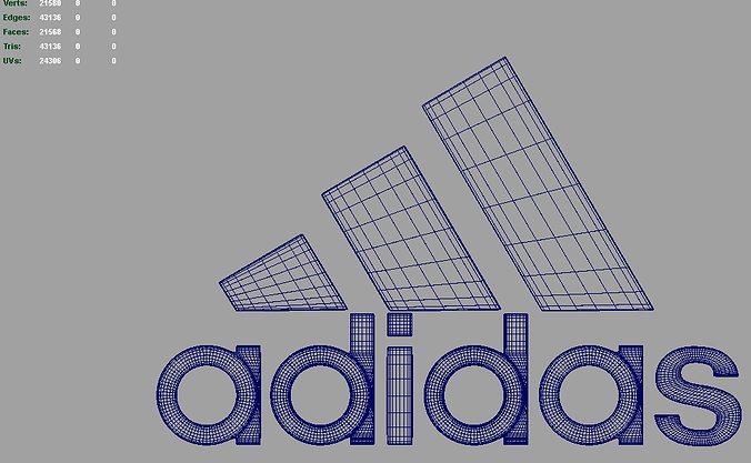 adidas logo 3d model