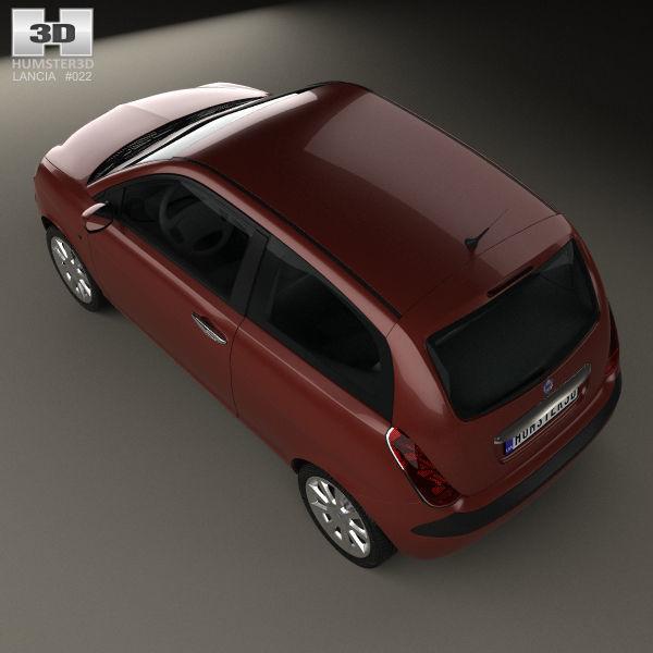 Lancia Ypsilon 2003 3d Model Cgtrader