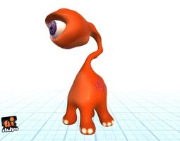 Cartoon Alien 3D model animated