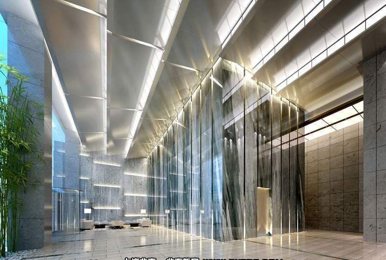 exquisite lighting. hall interior with exquisite lighting 3d model max 1 l