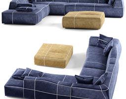 3D model Combination leisure sofa