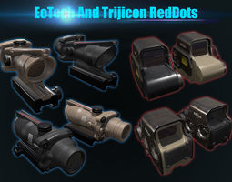Low Poly EoTech and Trijicon RedDots 3D model
