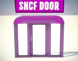 3D asset LOWPOLY SNCF TRAIN DOOR ANIMATION