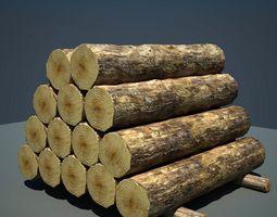 Logs Timber Wooden 3D model