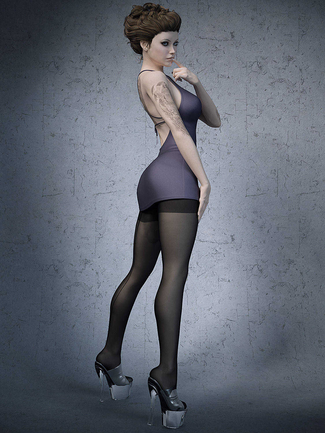 Women in stockings and high heels