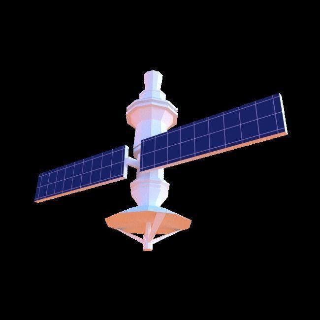 Low-Poly Satellite