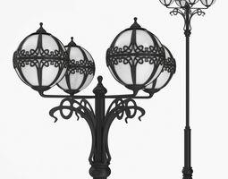 3D model Street lamp four bulb v5f