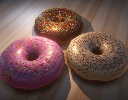 Donut 3D model VR / AR ready