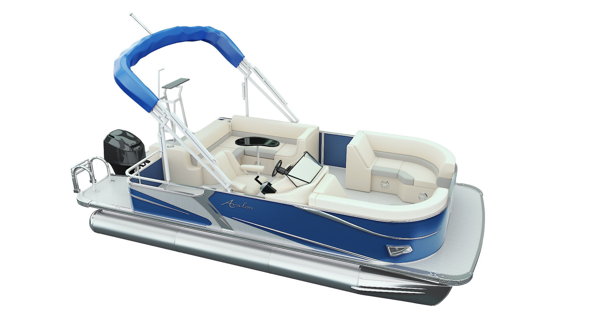 Pontoon Boat | 3D model