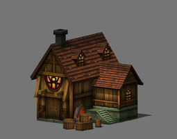 3D model game-ready other cartoon Cartoon House
