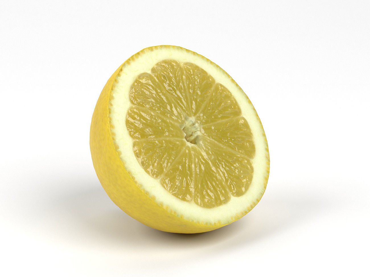 Photorealistic Lemon Half 3D Scan 4