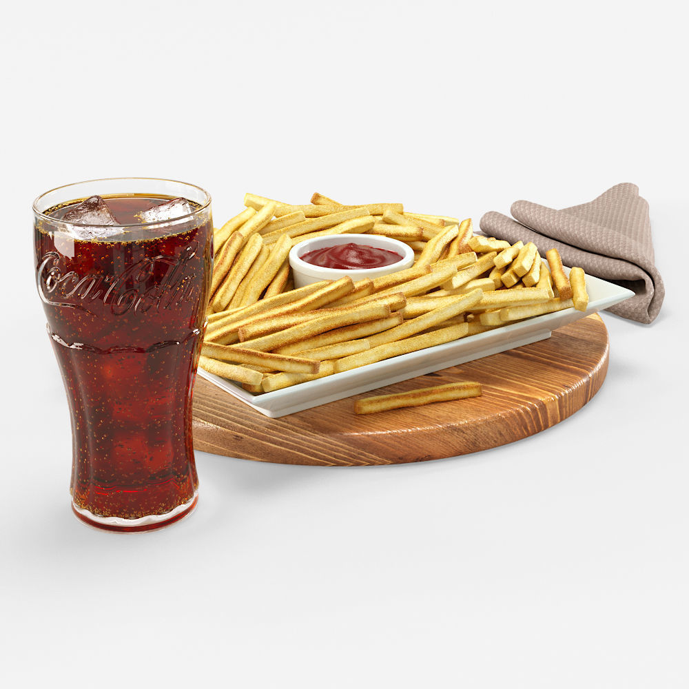 Cola with French fries Set