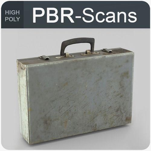 suitcase high poly 3d model obj fbx ma mb 1