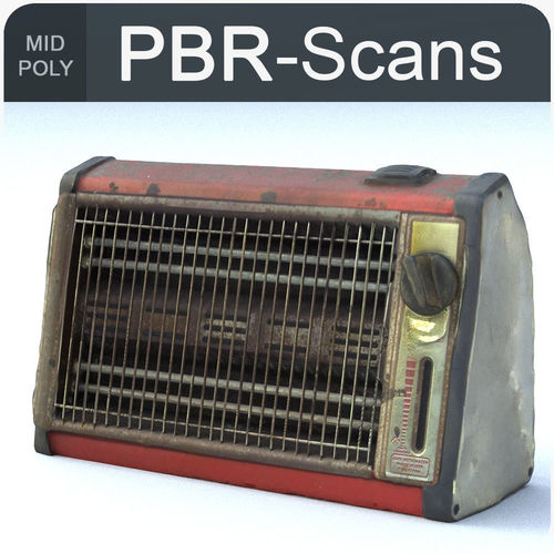 heater middle poly 3d model obj fbx ma mb 1
