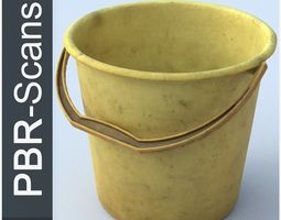 3D PBR Bucket High Poly