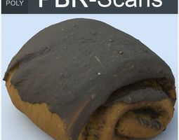 3D Chocolate Roll High Poly