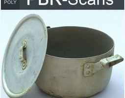 3D model Saucepan Middle Poly