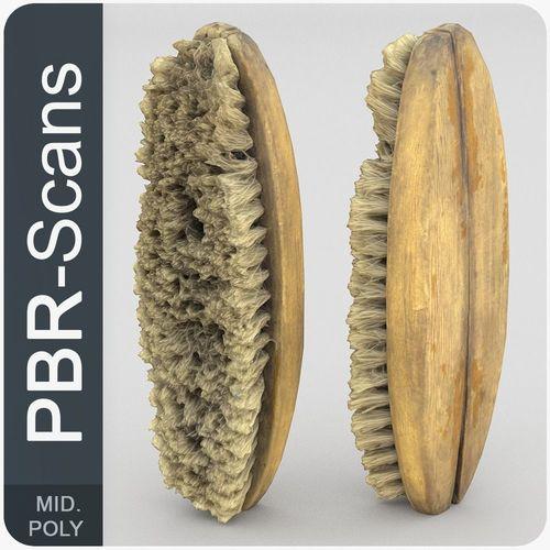 brush middle poly 3d model obj fbx ma mb 1