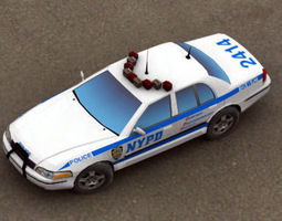 Police Car NYPD 3D Model