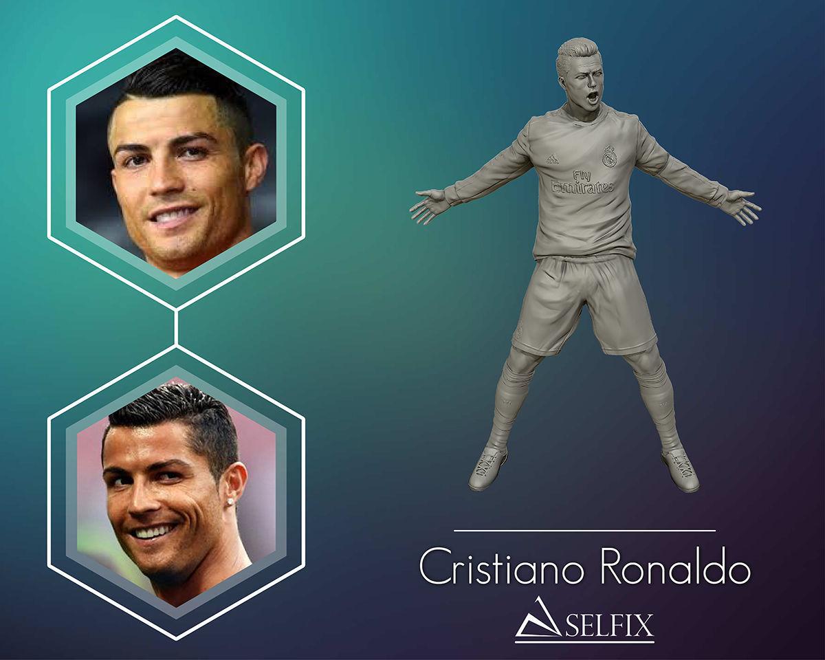 Cristiano Ronaldo Celebration 3D sculpture