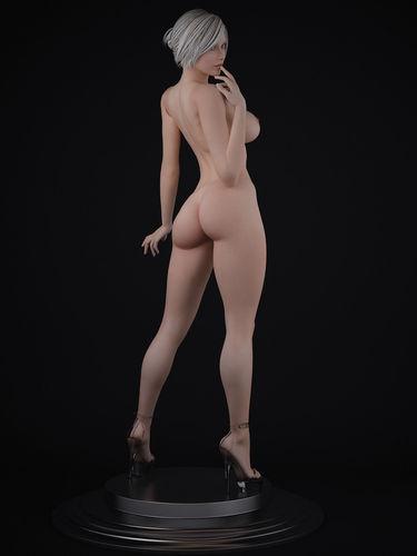 Nude Female Character 3D Model Max - Cgtradercom-5319
